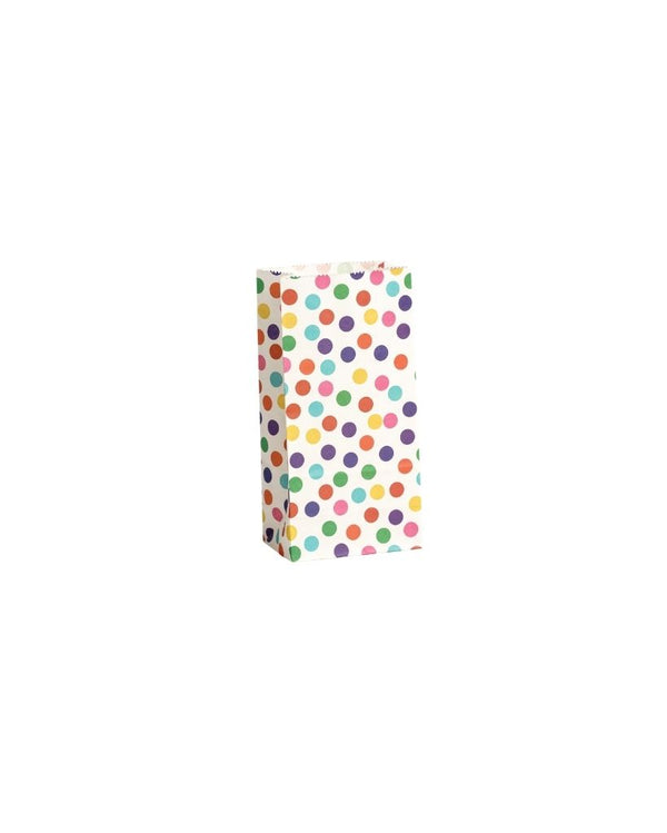 Rainbow Spots Lolly Bags 10 Pack