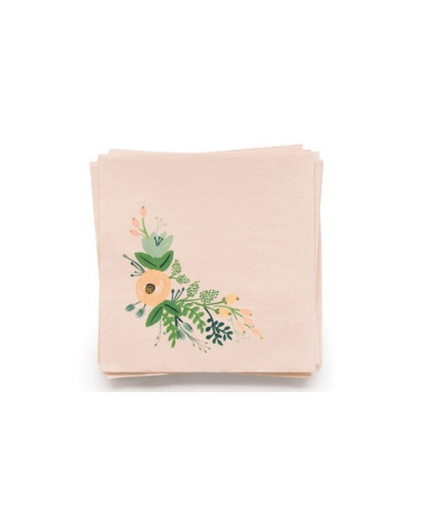 Wild Rose Cocktail Napkins