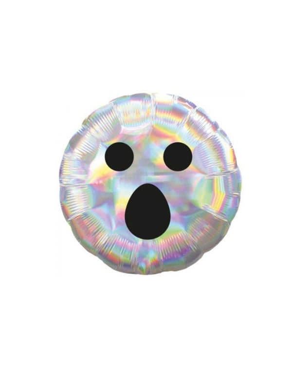 Iridescent Ghost Round Balloon Filled with Helium