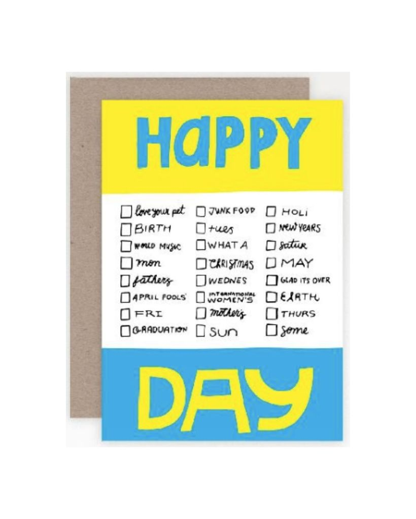 All The Happy Days Card
