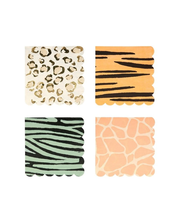 Safari Print Large Napkin