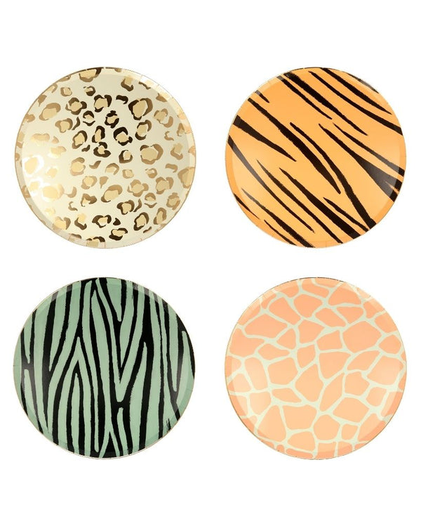 Safari Animal Print Large Plates