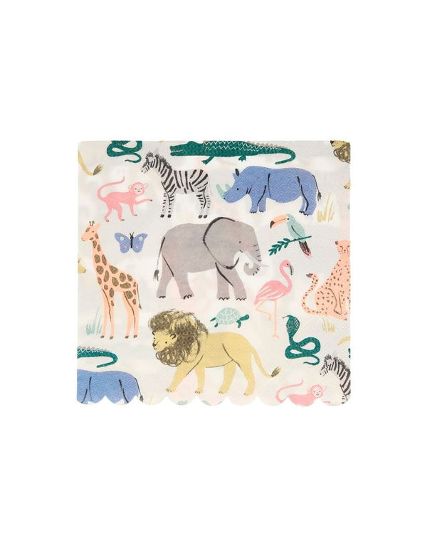 Safari Animal Large Napkin