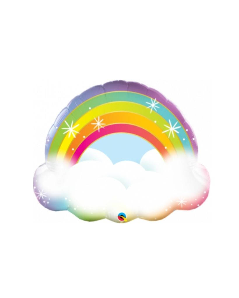 Pastel Rainbow Clouds Foil Balloon