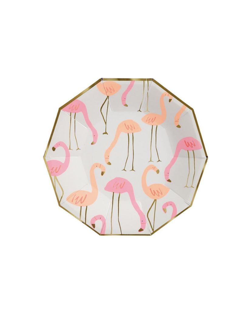 Flock of Flamingos Large Plate
