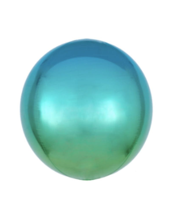 Blue and Green Ombre Orb Balloon