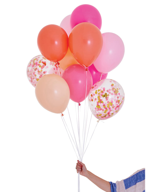 Pink Shimmer Balloon Set Filled with Helium