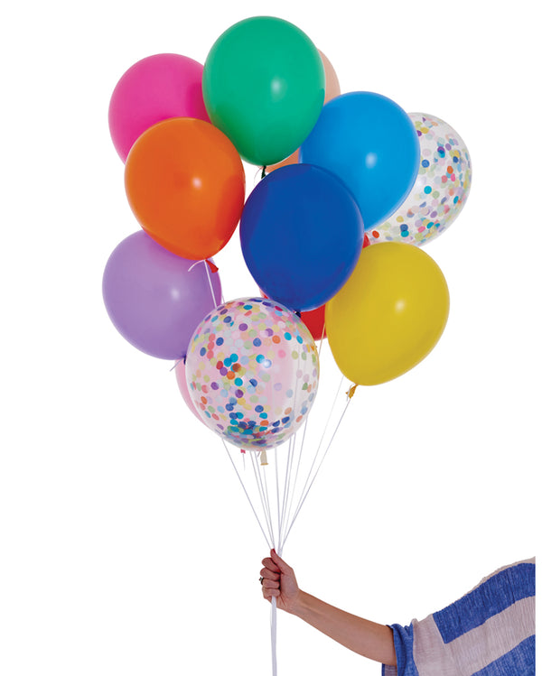 Rainbow Balloon Set Filled with Helium