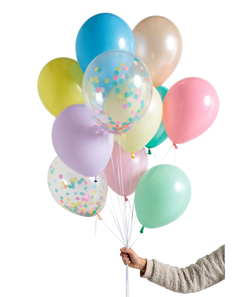 Pastel Rainbow Balloon Set Flat