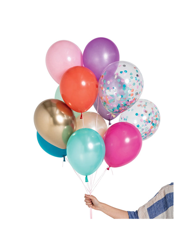 Mermaid Balloon Set Filled with Helium