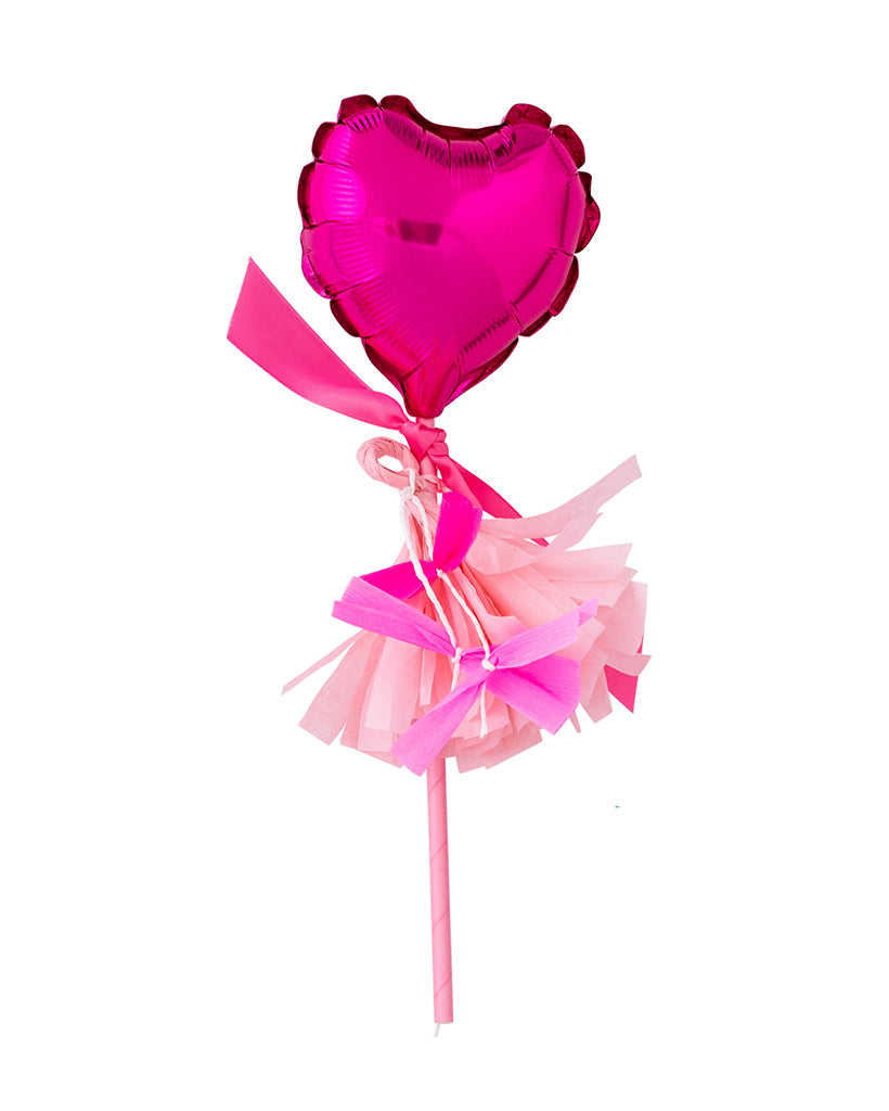 Bright Pink Heart Fancy Pop