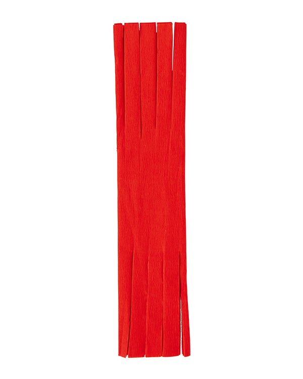 Red Fringed Crepe Paper