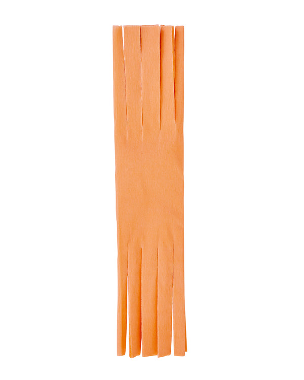 Peach Fringed Crepe Paper