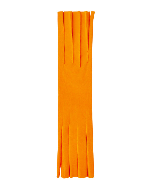 Orange Fringed Crepe Paper