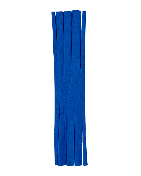 French Blue Fringed Crepe Paper