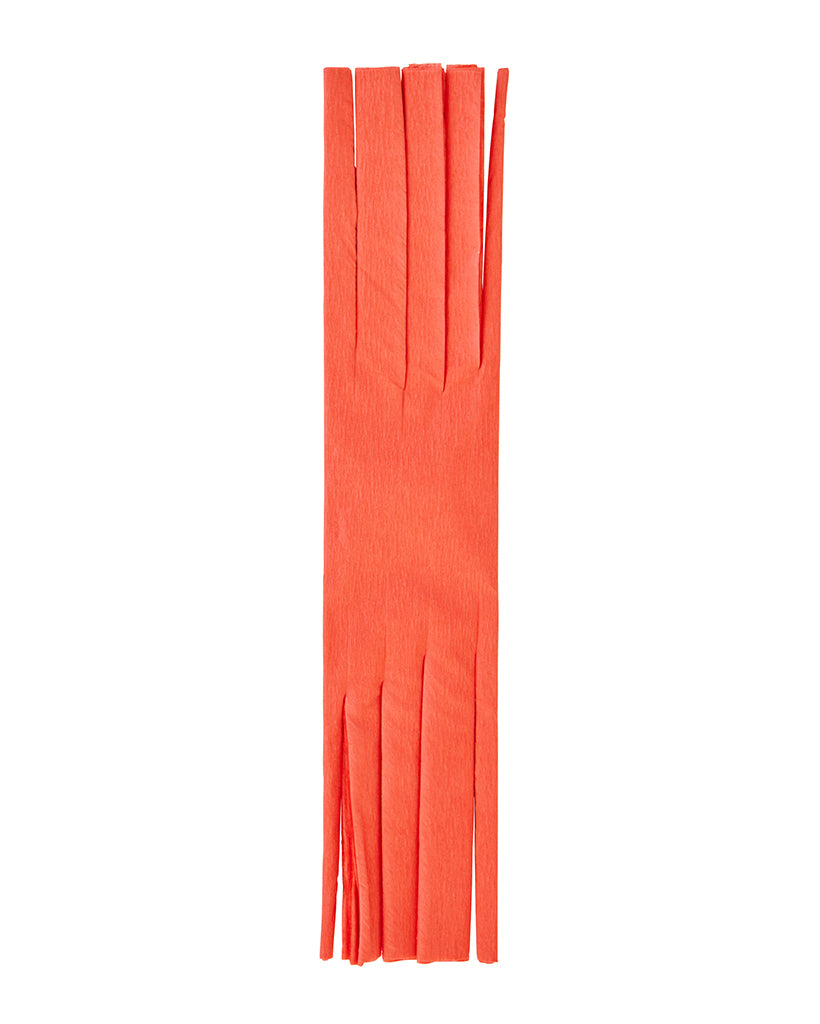 Coral Fringed Crepe Paper