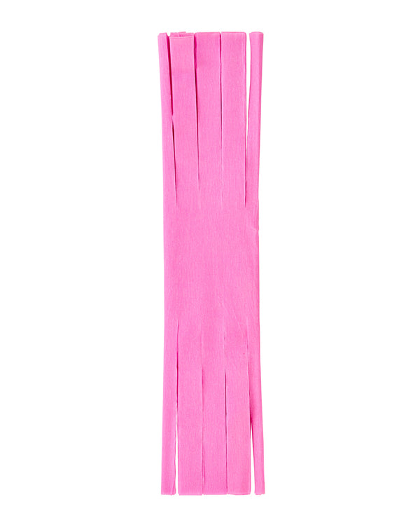 Bright Pink Fringed Crepe Paper