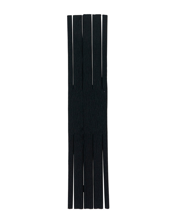 Black Fringed Crepe Paper