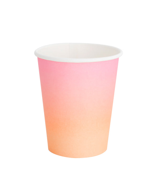 Oh Happy Day Sunset Ombre Cup Set