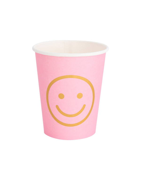 Oh Happy Day Blush Smiley Cup Set