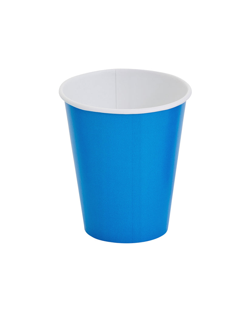 Mid Blue Paper Cups