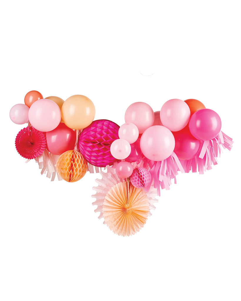 Pink Shimmer Fancy Garland Inflated
