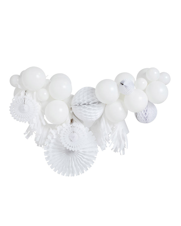 White Fancy Garland Inflated