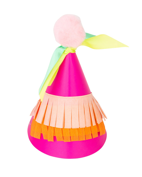 Girl Rainbow Party Hat