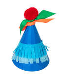 Blue Rainbow Party Hat