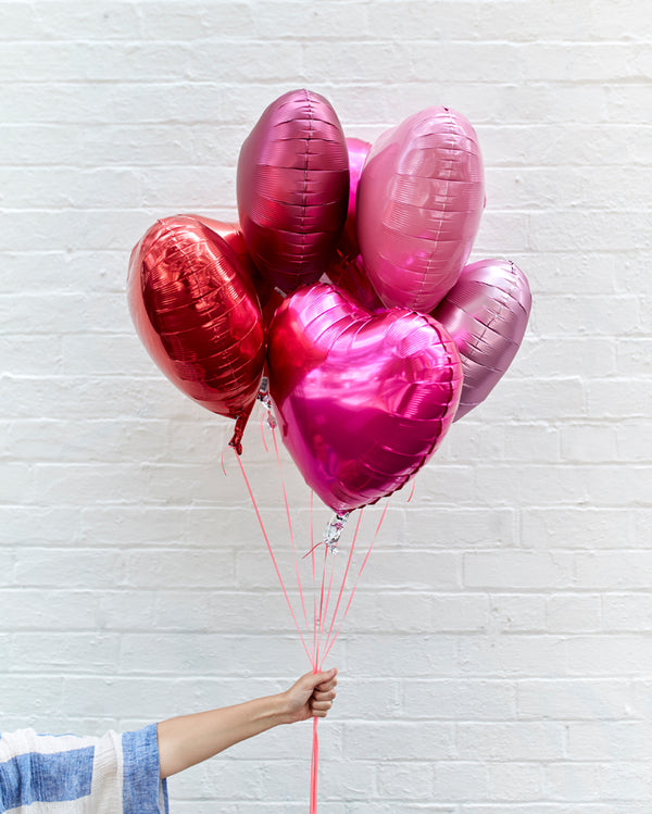 Love Me Tender Balloons Filled with Helium