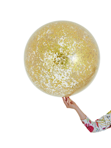 Mini Gold Jumbo Confetti Balloon