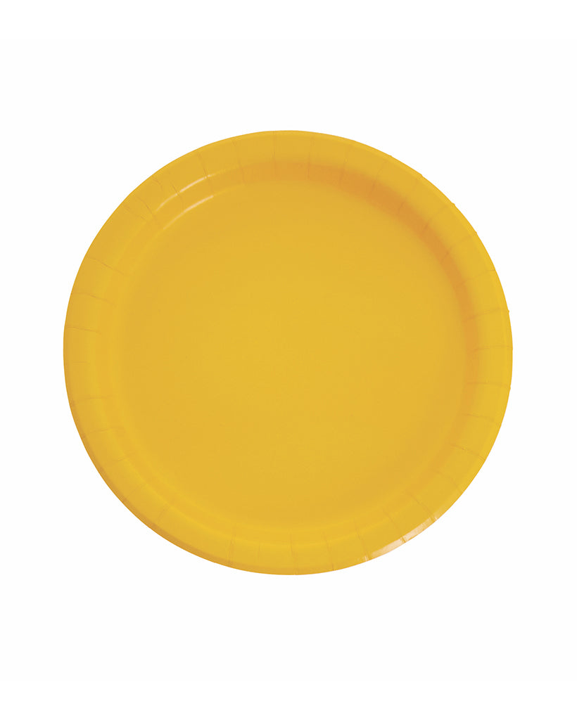Large Yellow Paper Plates