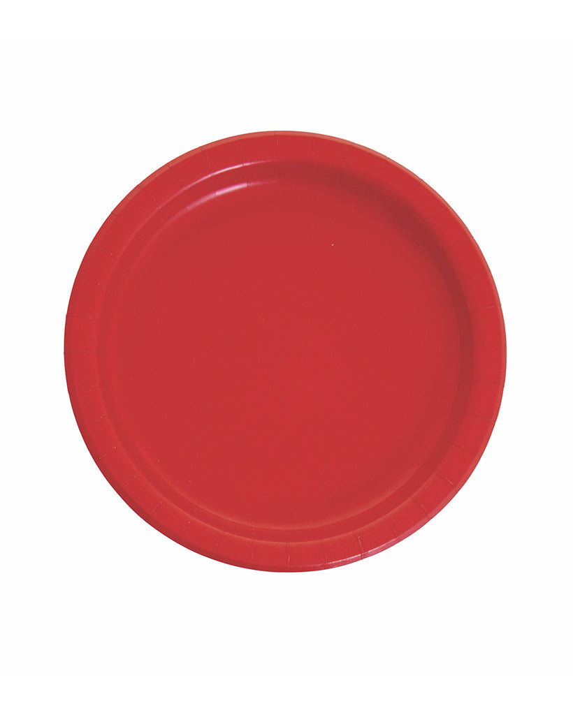 Large Red Paper Plates