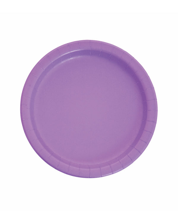 Large Amethyst Paper Plates