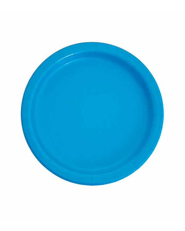 Large Mid Blue Paper Plates