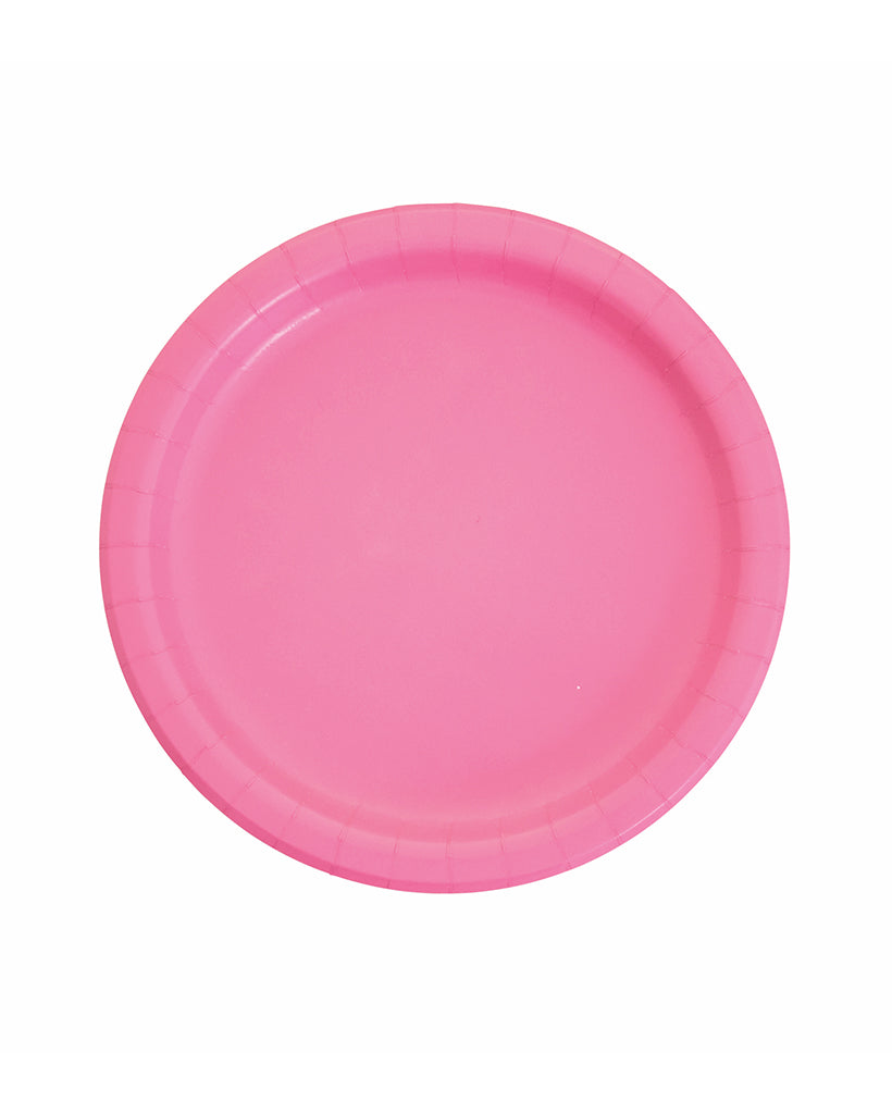 Large Candy Pink Paper Plates
