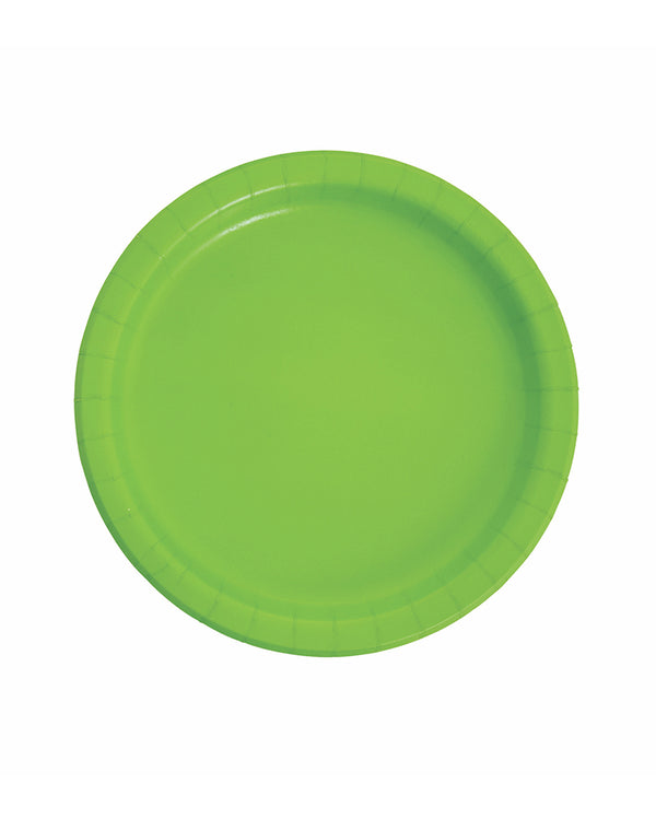 Large Lime Paper Plates