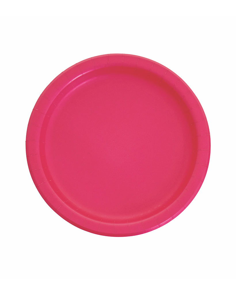 Large Magenta Paper Plates