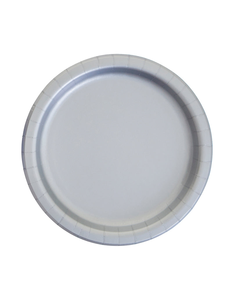 Large Silver Paper Plates