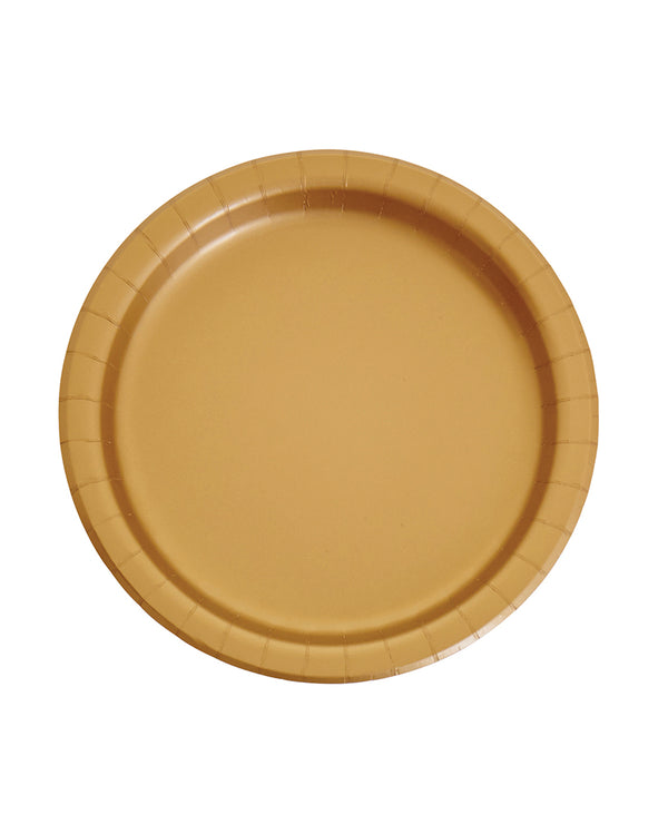 Large Gold Paper Plates