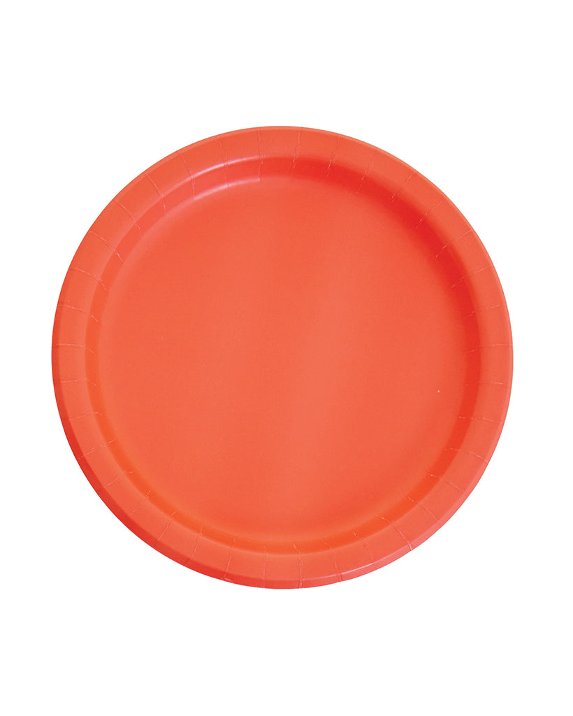 Large Coral Paper Plates