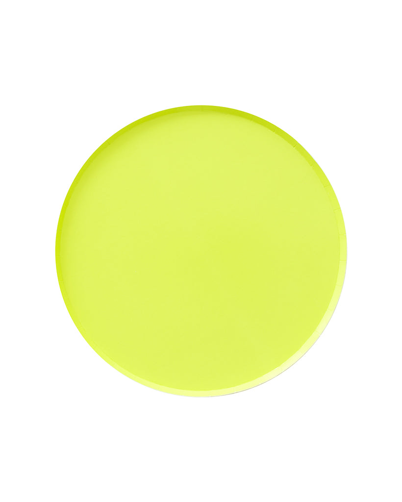 Oh Happy Day Chartreuse Large Plate Set