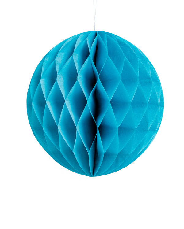 Large Sky Blue Honeycomb Ball