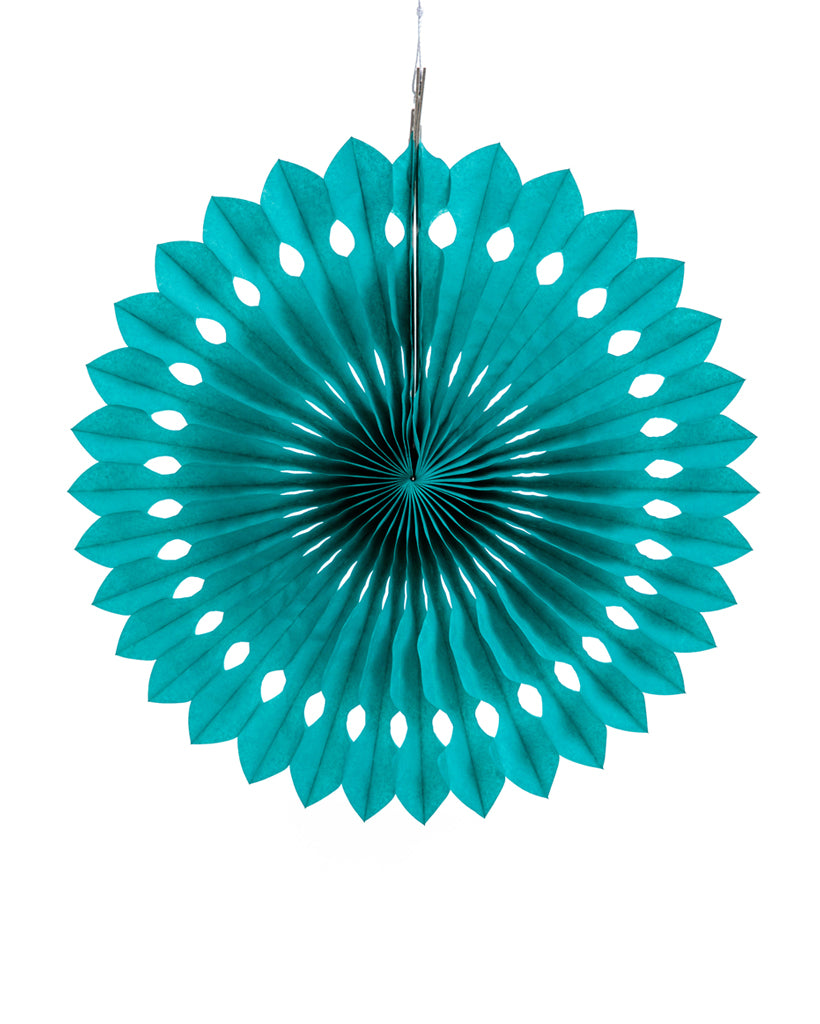 Large Teal Fan