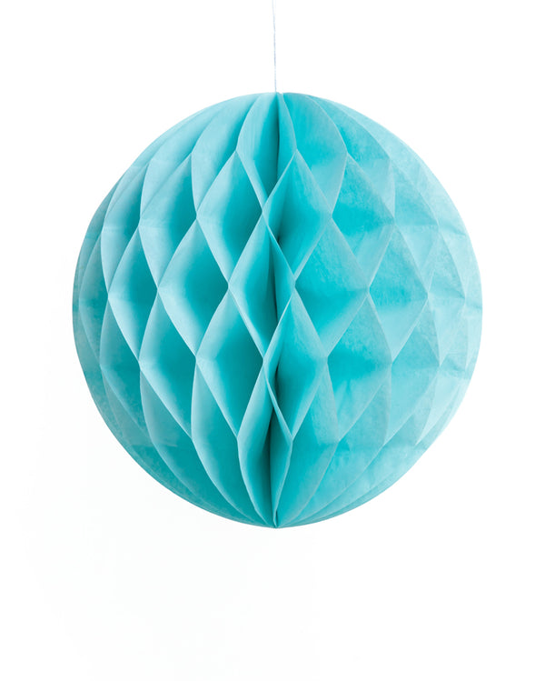 Large Light Blue Honeycomb Ball