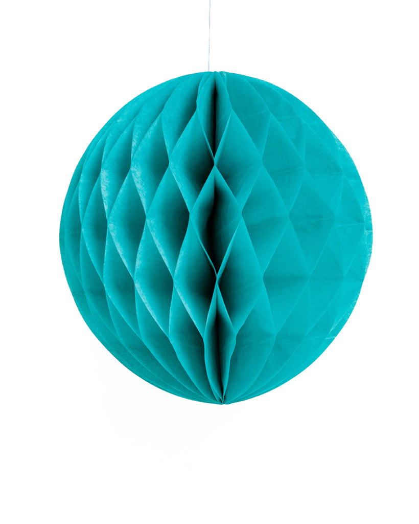 Large Teal Honeycomb Ball