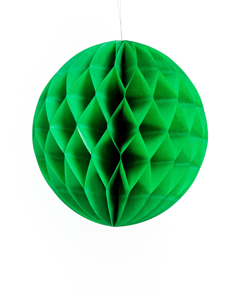 Large Green Honeycomb Ball