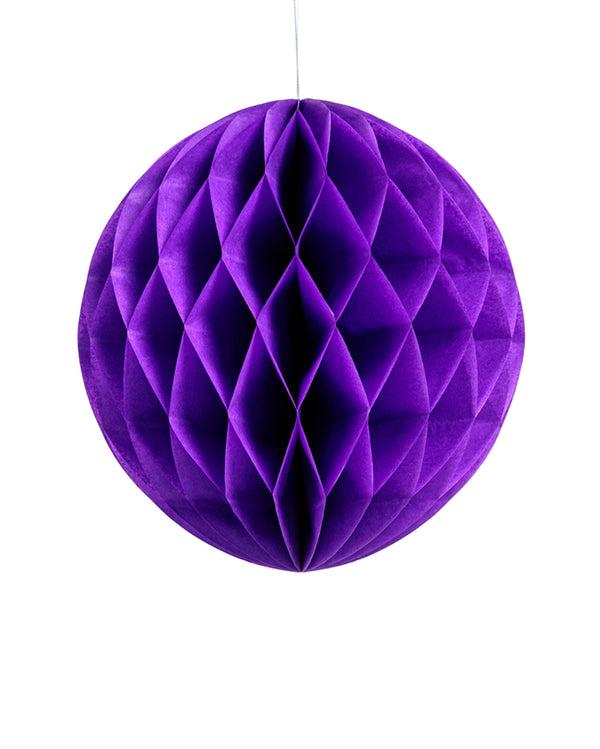 Large Purple Honeycomb Ball