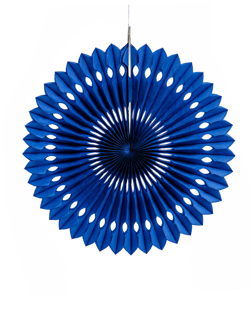 Large Royal Blue Fan