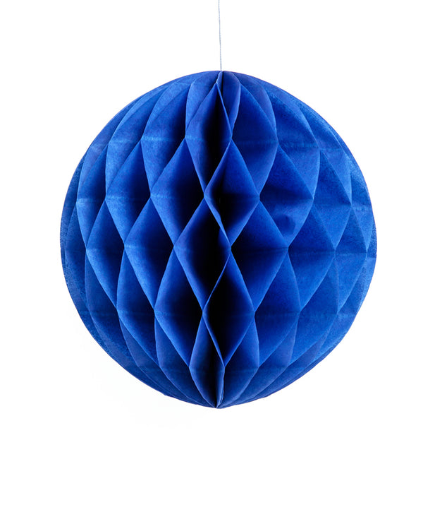 Large Navy Blue Honeycomb Ball